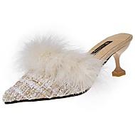 Damen Schuhe PU Herbst Winter Leuchtende Sohlen Cloggs & Pantoletten Flacher Absatz Runde Zehe Schnürsenkel Für Normal Schwarz Beige Khaki