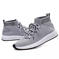 cheap Men's Athletic Shoes-Men's Shoes PU Spring / Fall Comfort Athletic Shoes Walking Shoes Gray / Black / White / Black / Red