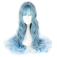 Γυναικεία 26 inch Ίνα Ανθεκτική στη Ζέστη Μπλε Anime Περούκες για Στολές Ηρώων