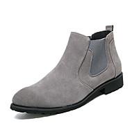 abordables -Homme Chaussures Daim Automne Hiver Confort Bottes à la Mode boîtes de Combat Bottes Pour Décontracté Noir Gris Marron