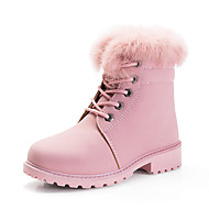 Girls' Shoes Flocking Leatherette Winter Snow Boots Boots Booties/Ankle Boots For Casual Nude Blushing Pink Black