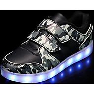 Poikien kengät Synteettinen mikrokuitu PU Talvi Syksy Comfort Lenkkitossut Käyttötarkoitus Kausaliteetti Valkoinen Musta Armeijan vihreä