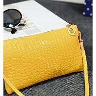 baratos Bolsas de Ombro-Mulheres Bolsas PU Bolsa Transversal Ziper Azul / Preto / Amarelo