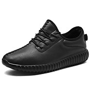 Women's Shoes Nappa Leather Spring Fall Comfort Athletic Shoes Flat Heel Round Toe Lace-up For Outdoor Red Black White