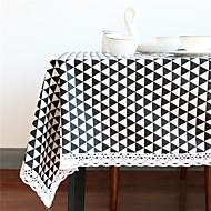 billige Bordduker-Rektangulær Kvadrat Geometrisk Duge , Lin/Bomull Blanding Materiale Hjem Hotel Middagsbord Tabell Dceoration Dekorasjoner til hjemmet 1