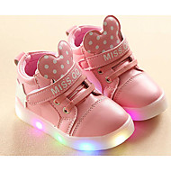 Girls' Shoes Leatherette Spring Fall Comfort Sneakers For Casual White Black Pink