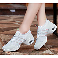cheap Dance Sneakers-Women's Dance Sneakers Tulle Flat Heel Practice White Black