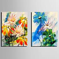 billiga Väggkonst-Två paneler Duk Vertikal Tryck väggdekor Hem-dekoration