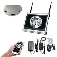 halpa -12,5 hd lcd -näyttö hdmi nvr 360 asteen panoraalisella 1.3mp wifi-kameralla CCTV-valvontajärjestelmä