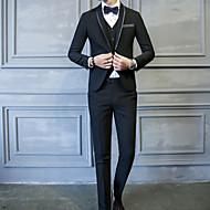 odijela Normalne dužine Muškarci, Jednostavan Ležerne prilike Dnevno Jednobojni Klasični rever Zima Jesen Poliester