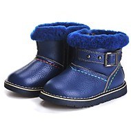 男の子 靴 レザー 冬 コンフォートシューズ 赤ちゃん用靴 ブーティー ブーツ ブーティー/アンクルブーツ ジッパー 面ファスナー 用途 ドレスシューズ パーティー レッド ブルー ライトグリーン