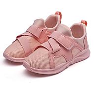 baratos Sapatos de Menina-Para Meninas Sapatos Malha Respirável Outono Conforto Tênis para Branco / Preto / Rosa claro