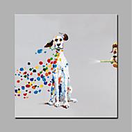 Peint à la main Animal Style moderne 1 pièce Toile Peinture à l'huile Hang-peint For Décoration d'intérieur