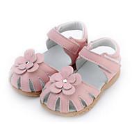 Para Meninas sapatos Couro Inverno Outono Conforto Sandálias para Casual Vermelho Azul Rosa claro