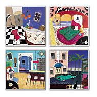 Tegneserie fantasi Frame Art Veggkunst,Stål Materiale med ramme For Hjem Dekor Rammekunst Stue