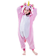 cheap -Kid's Kigurumi Pajamas Unicorn Flying Horse Onesie Pajamas Polar Fleece Pink / White+Blue / White+Pink Cosplay For Boys and Girls Animal Sleepwear Cartoon Festival / Holiday Costumes