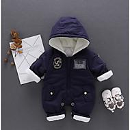 bebê Peça Única Cor Única Outono Inverno 100% algodão