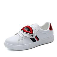Žene Cipele PU Proljeće Ljeto Udobne cipele Inovativne cipele Sneakers Ravna potpetica Okrugli Toe Aplikacije za Kauzalni Vanjski Obala