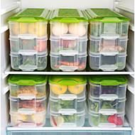 6 Cozinha Plástico Armazenamento de alimentos