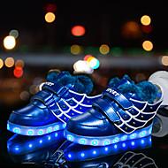 halpa -Poikien kengät Synteettinen Talvi Comfort Välkkyvät kengät Fluff Vuori Lenkkitossut Eläinkuvio Tarranauhalla LED Käyttötarkoitus