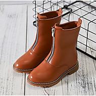 女の子 靴 本革 秋 冬 コンフォートシューズ スノーブーツ ブーツ 用途 カジュアル ブラック Brown