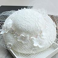Damer Hat Traditionel/Vintage Chic & Moderne Elegant & Luksuriøs Hatte Bøllehat,Bomuld Forår/Vinter Vinter Solid