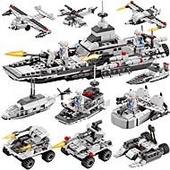 BEIQI Bausteine Bausatz Spielzeug Bildungsspielsachen 472 pcs Militär Kriegsschiff Flugzeug kompatibel Legoing Neues Design Heimwerken 6 in 1 Klassisch Schick & Modern Schiff Jungen Mädchen Spielzeuge
