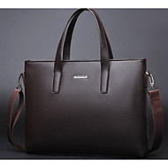 Men Bags Cowhide Briefcase Zipper for Casual All Seasons Black Brown