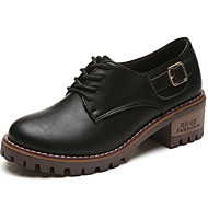 Kadın Ayakkabı PU Bahar Sonbahar Rahat Oxford Modeli Uyumluluk Siyah Kahverengi