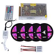 billiga Belysning-HKV 20m Ljusuppsättningar 1200 lysdioder 3528 SMD RGB Fjärrkontroll / Klippbar / Bimbar 110-220 V / 12 V 1set / IP65 / Vattentät / Kopplingsbar / Självhäftande / Färgskiftande