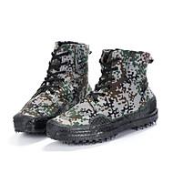 baratos Sapatos Masculinos-Homens Lona Primavera / Outono Conforto Botas Preto / Verde Tropa / Verde