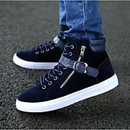 Herre sko Tekstil Vår Høst Komfort Treningssko Til Avslappet Svart Blå