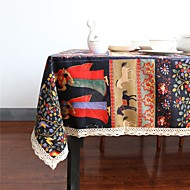 cheap Table Linens-Linen / Cotton Blend Rectangular / Square Table cloths Bohemian Style Eco-friendly Table Decorations 1 pcs
