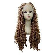 長い長さのプレゼントベストペルーの人間の髪変態カエルフルレースのかつら女性のための