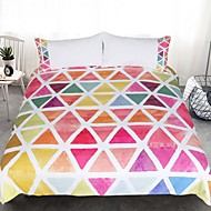 Duvet Cover Sets Geometric 3 Piece Reactive Print 3pcs (1 Duvet Cover, 2 Shams)
