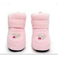 Bebê sapatos Flanelado Outono Inverno Conforto Primeiros Passos Rasos Para Casual Cinzento Rosa claro Azul Claro