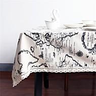 billige Bordduker-Rektangulær Kvadrat Kart Duge , Lin/Bomull Blanding Materiale Hjem Kjøkken Tabell Dceoration Dekorasjoner til hjemmet 1