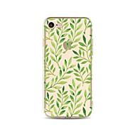 Etui Til iPhone X iPhone 8 Transparent Mønster Bagcover Træ Blødt TPU for iPhone X iPhone 8 Plus iPhone 8 iPhone 7 Plus iPhone 7 iPhone