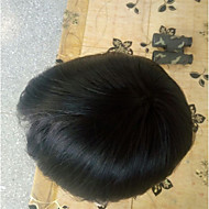 vervangingssysteem fijne mono kant echte huid 8 * 10 mannen toupee