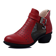 cheap Dance Boots-Women's Dance Boots Nappa Leather / Leather Boots / Sneaker Professional Low Heel Dance Shoes White / Black / Red