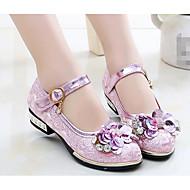 baratos Sapatos de Menina-Para Meninas Sapatos Couro Ecológico Primavera Verão Conforto / Sapatos para Daminhas de Honra Tênis para Dourado / Rosa claro