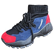 Feminino Sapatos Couro Ecológico Outono Inverno Conforto Tênis Basquete Rasteiro Ponta Redonda Cadarço Para Casual Preto Verde Azul