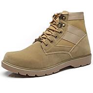 abordables -Homme Chaussures Cuir Nubuck Printemps Automne Confort boîtes de Combat Bottes Pour Décontracté Noir Jaune
