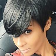 女性 ブラック ミディアムオーバーン ミディアムオーバーン/ブリーチブロンド ショート丈 ストレート ホット販売 サイドパート