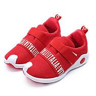 Para Meninas sapatos Malha Respirável Primavera Outono Conforto Tênis Para Casual Preto Cinzento Vermelho
