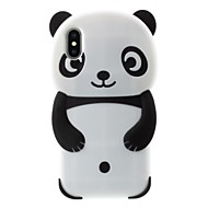billiga Mobil cases & Skärmskydd-fodral Till Apple iPhone X / iPhone 8 Plus Mönster Skal Panda Mjukt Silikon för iPhone X / iPhone 8 Plus / iPhone 7 Plus