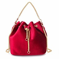 Žene Torbe Baršun Tote torbica Džep za Kauzalni Zima Jesen Crn Red Tamno zelena Svjetlo siva