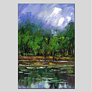 Hand-Painted Landscape Vertical Panoramic,Modern One Panel Canvas Oil Painting For Home Decoration