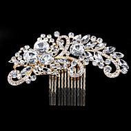 Bergkristall / Legering Hair Combs / Huvudbonad med Blomma 1st Bröllop / Speciellt Tillfälle / Fest / afton Hårbonad
