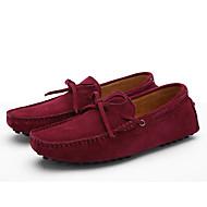 tanie Obuwie męskie-Męskie Komfortowe buty Skóra Wiosna / Lato Mokasyny i buty wsuwane Zero Zero Kawowy / Królewski błękit / Burgundowy